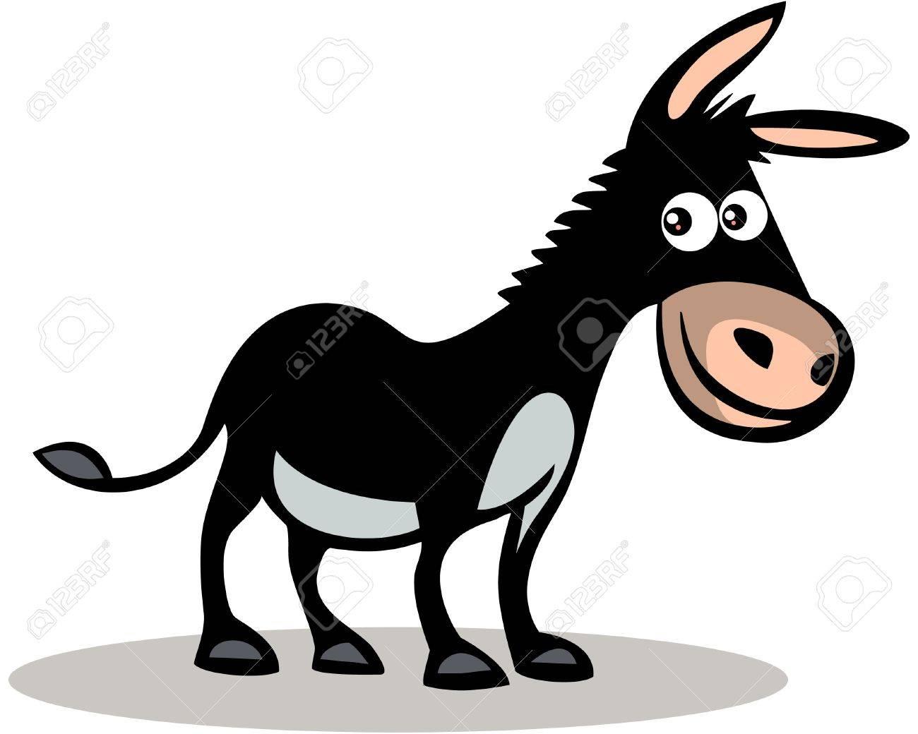 Happy donkey Stock Vector - 13826923
