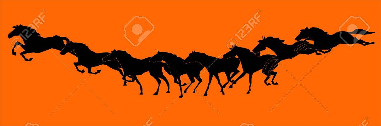 Running horse sequence Stock Vector - 17801584