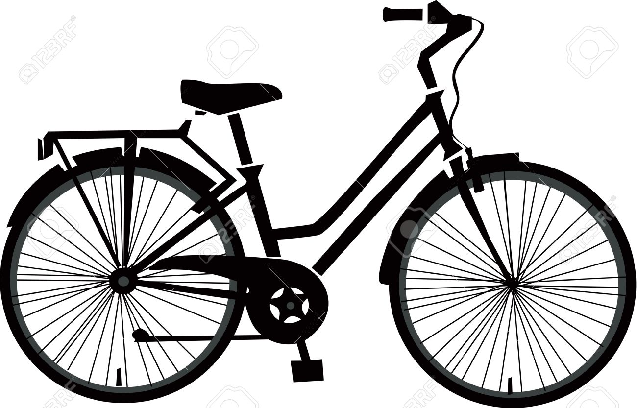 black bicycle vector royalty free cliparts vectors and stock rh 123rf com vector bike icon free download vector bike rack
