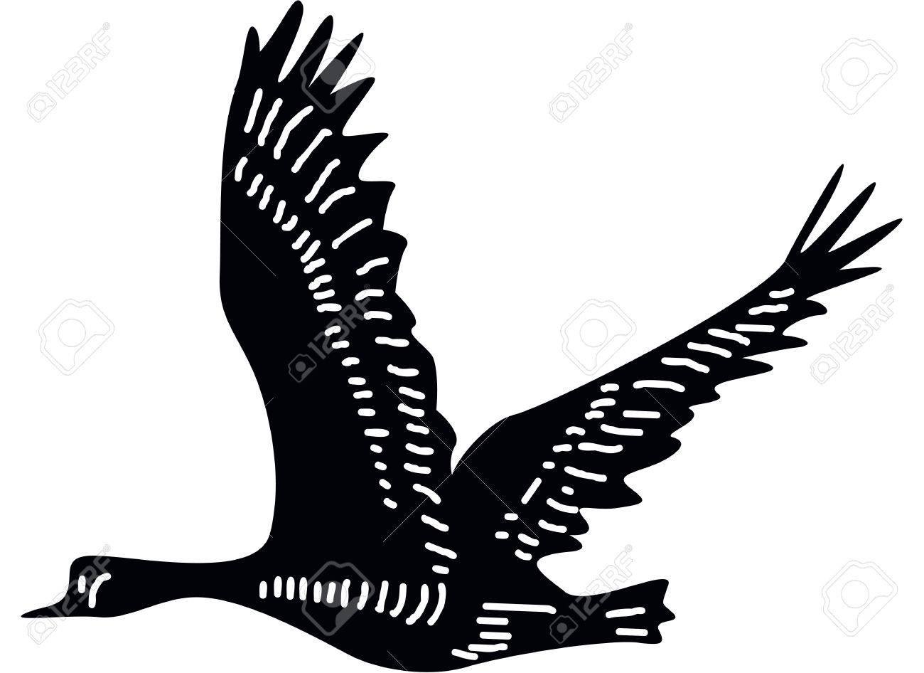 canada goose clipart black and white