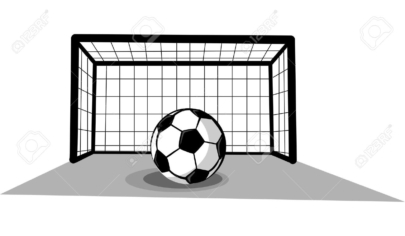 soccer goal with ball royalty free cliparts vectors and stock rh 123rf com soccer ball and goal clipart clipart soccer goal