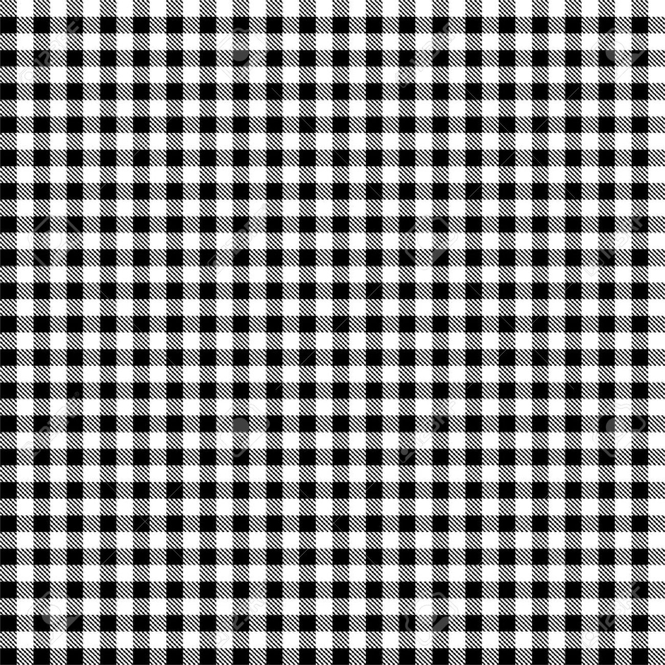 Seamless Black And White Checkered Tablecloth Pattern Stock Vector    37234222