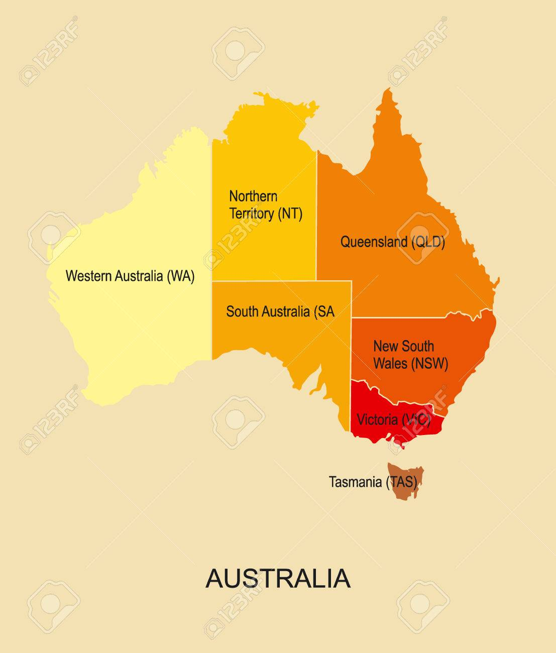 Australia Map Regions.Australia Map With Regions Royalty Free Cliparts Vectors And Stock
