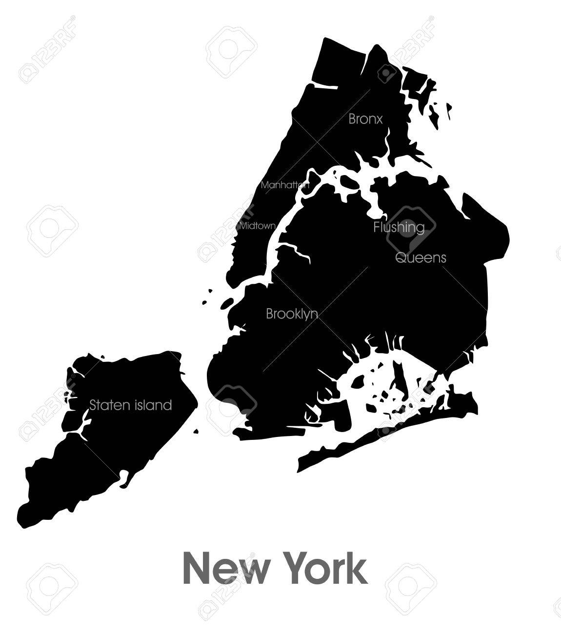 New York City Map Royalty Free Cliparts Vectors And Stock
