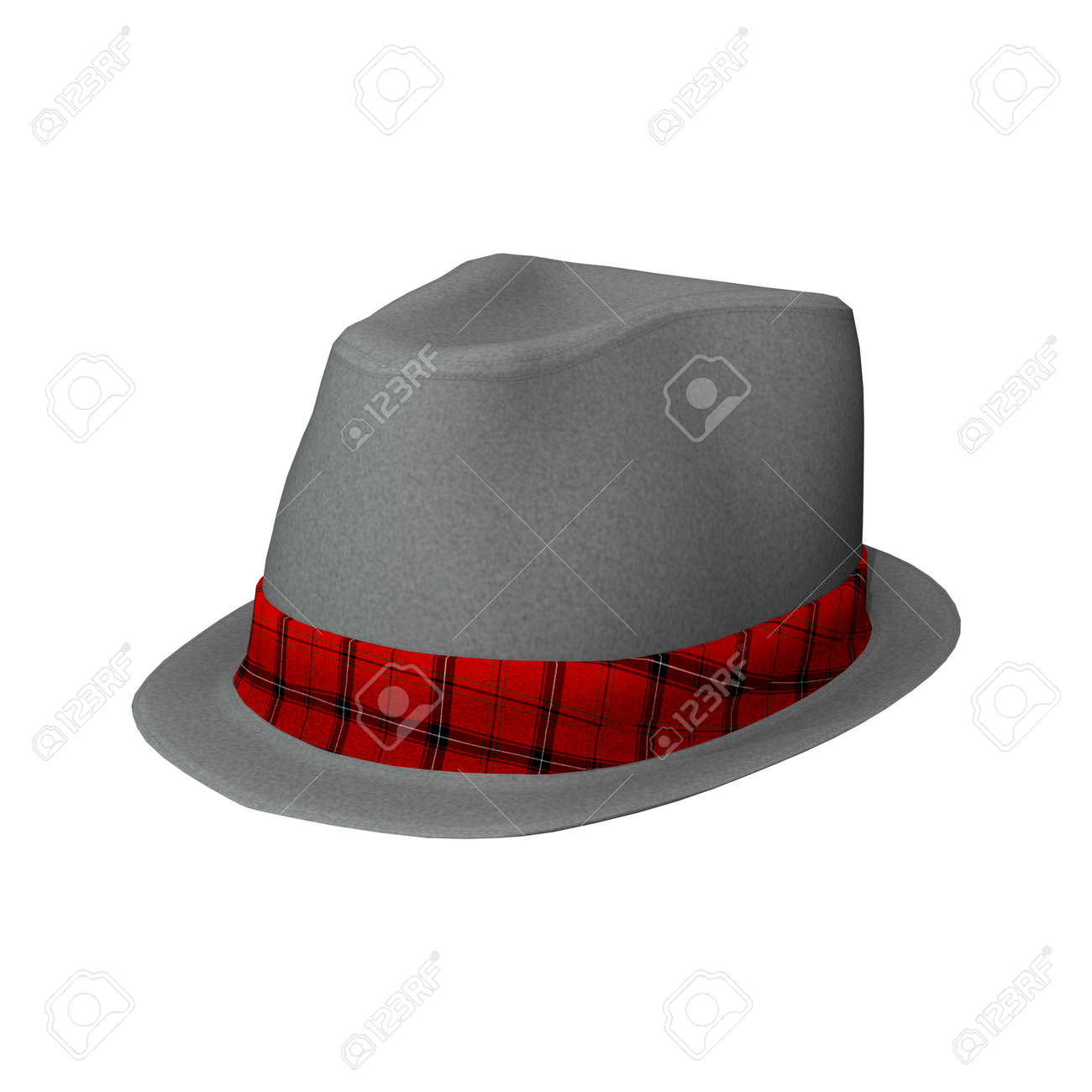 3D digital render of an elegant man s hat isolated on white background  Stock Photo - 23840456 2b810a267b3