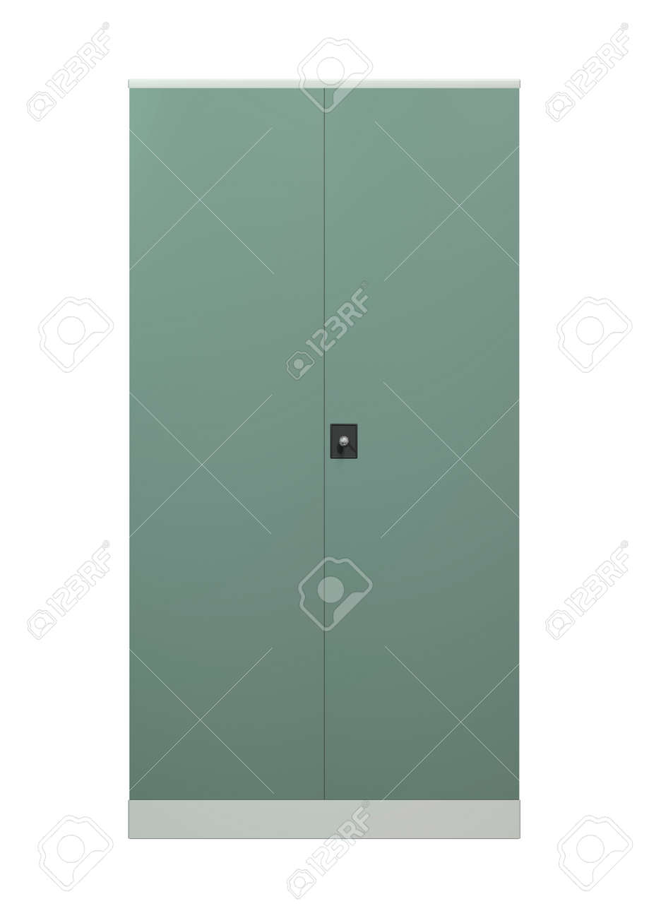 3D digital render of a file cupboard isolated on white background Stock Photo - 24203857