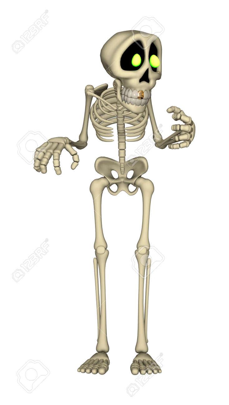 Dibujo De Un Esqueleto Humano. Dibujo Para Colorear De Un Esqueleto ...