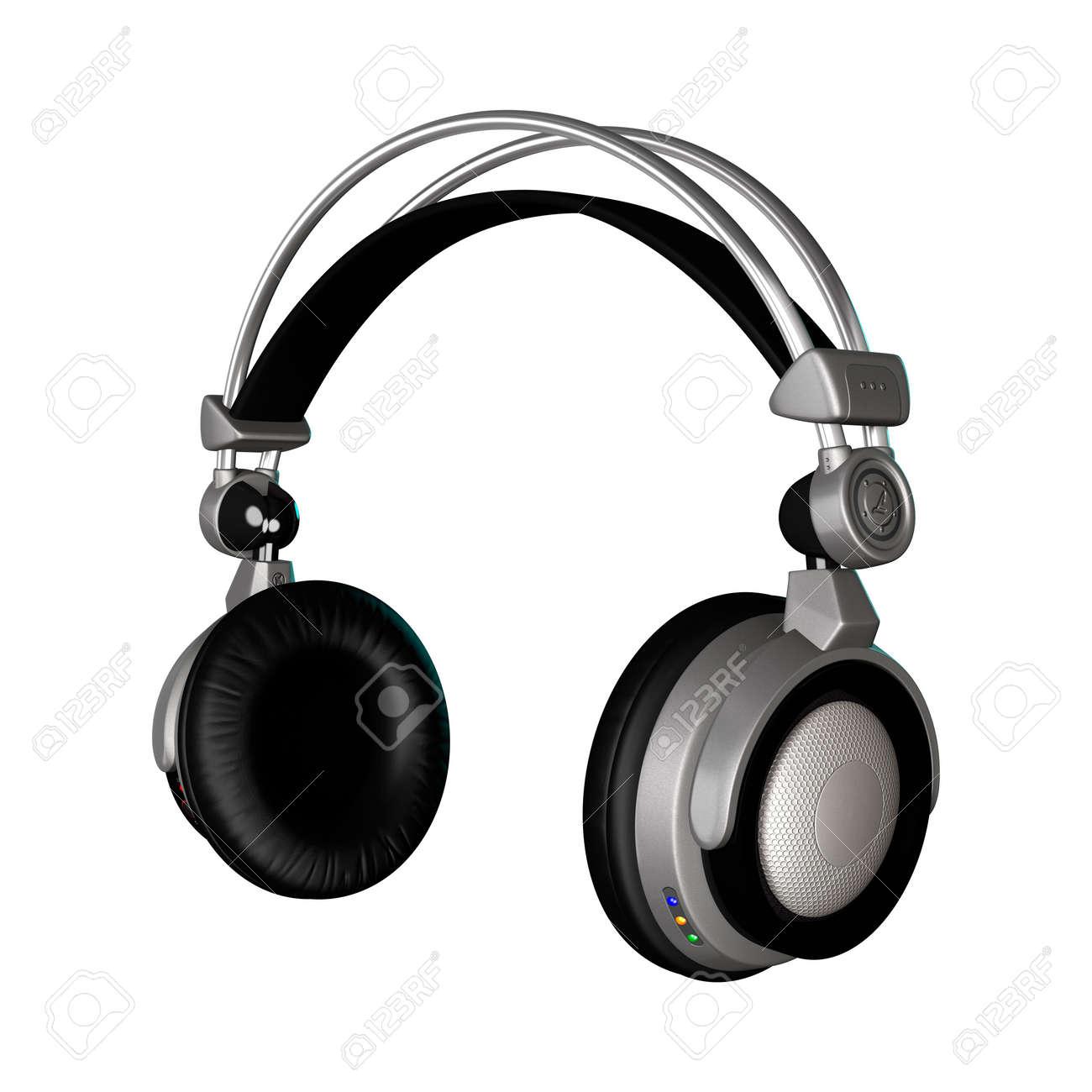 3D rendering di un DJ cuffie isolato su sfondo bianco Archivio Fotografico  - 56548534 ee816f4726a0