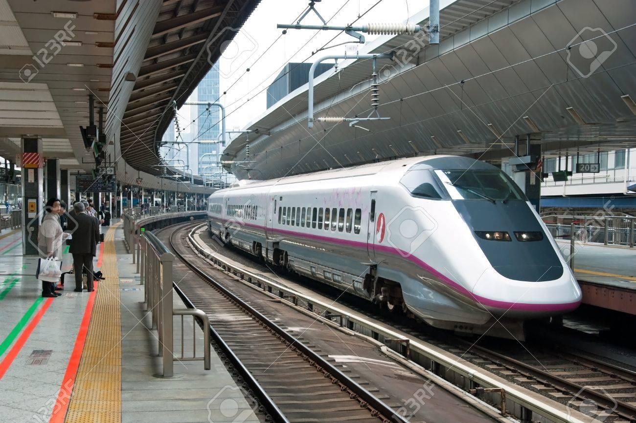 Tokyo, Japan - May 17, 2012: Shinkansen bullet train at Tokyo