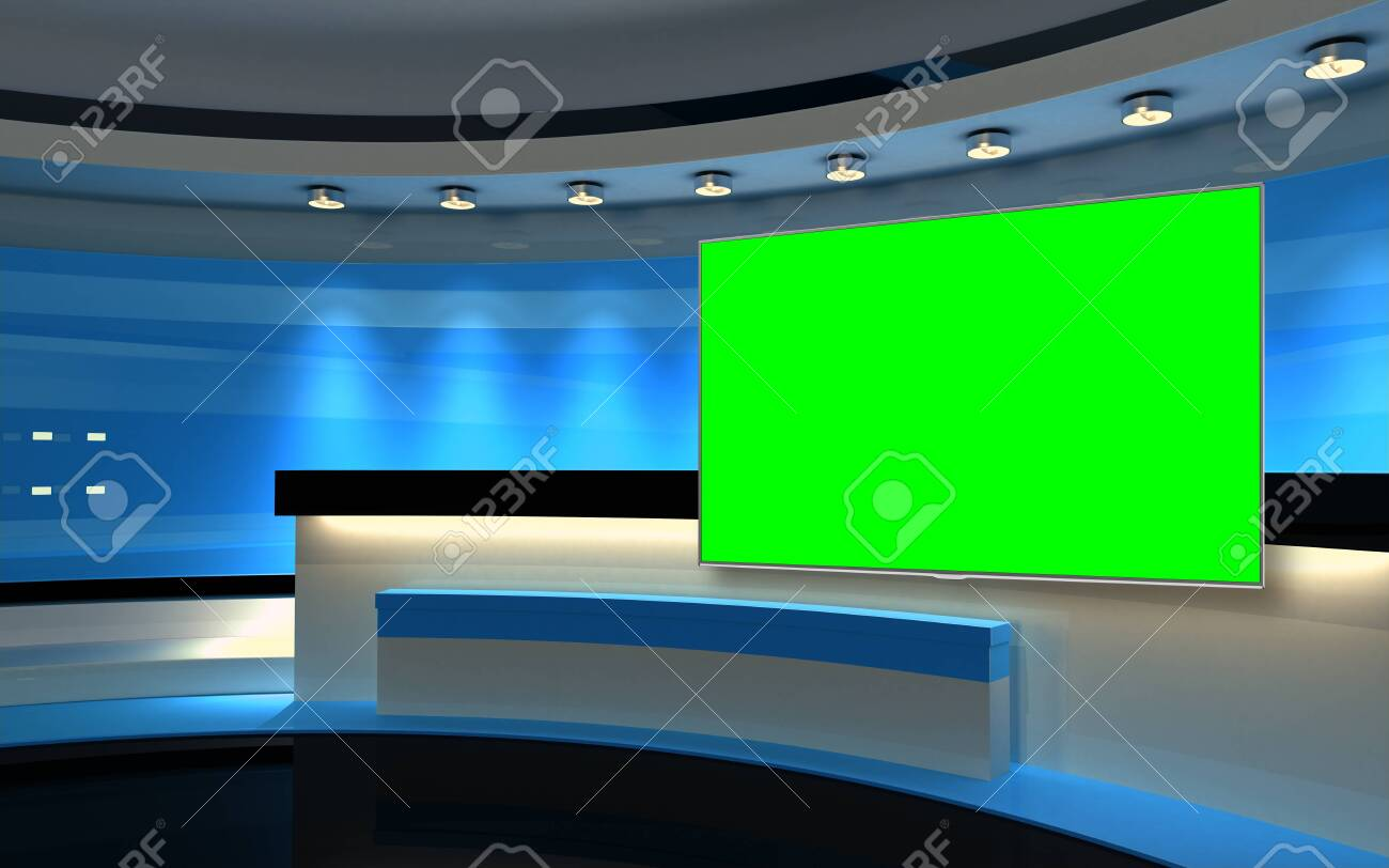 Studio The perfect backdrop for any green screen or chroma key video production, and design. 3d rendering - 151985928