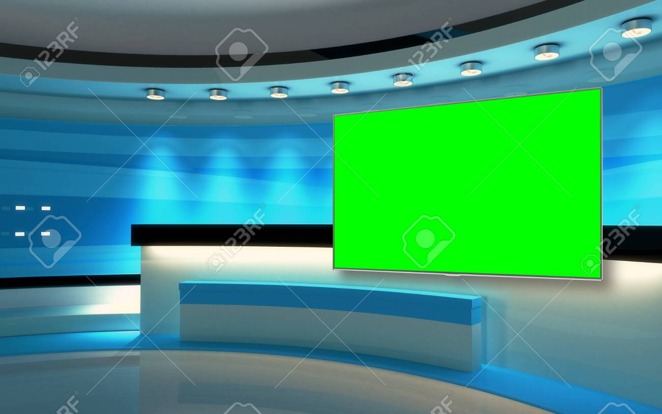 Studio The perfect backdrop for any green screen or chroma key video production, and design. 3d rendering - 151985720