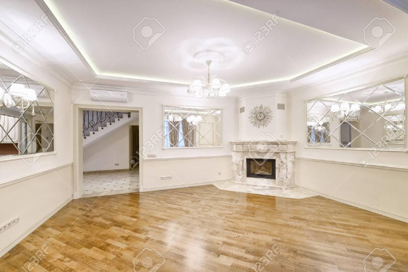 Banque dimages russie région de moscou design dintérieur de salon dans la maison de campagne de luxe
