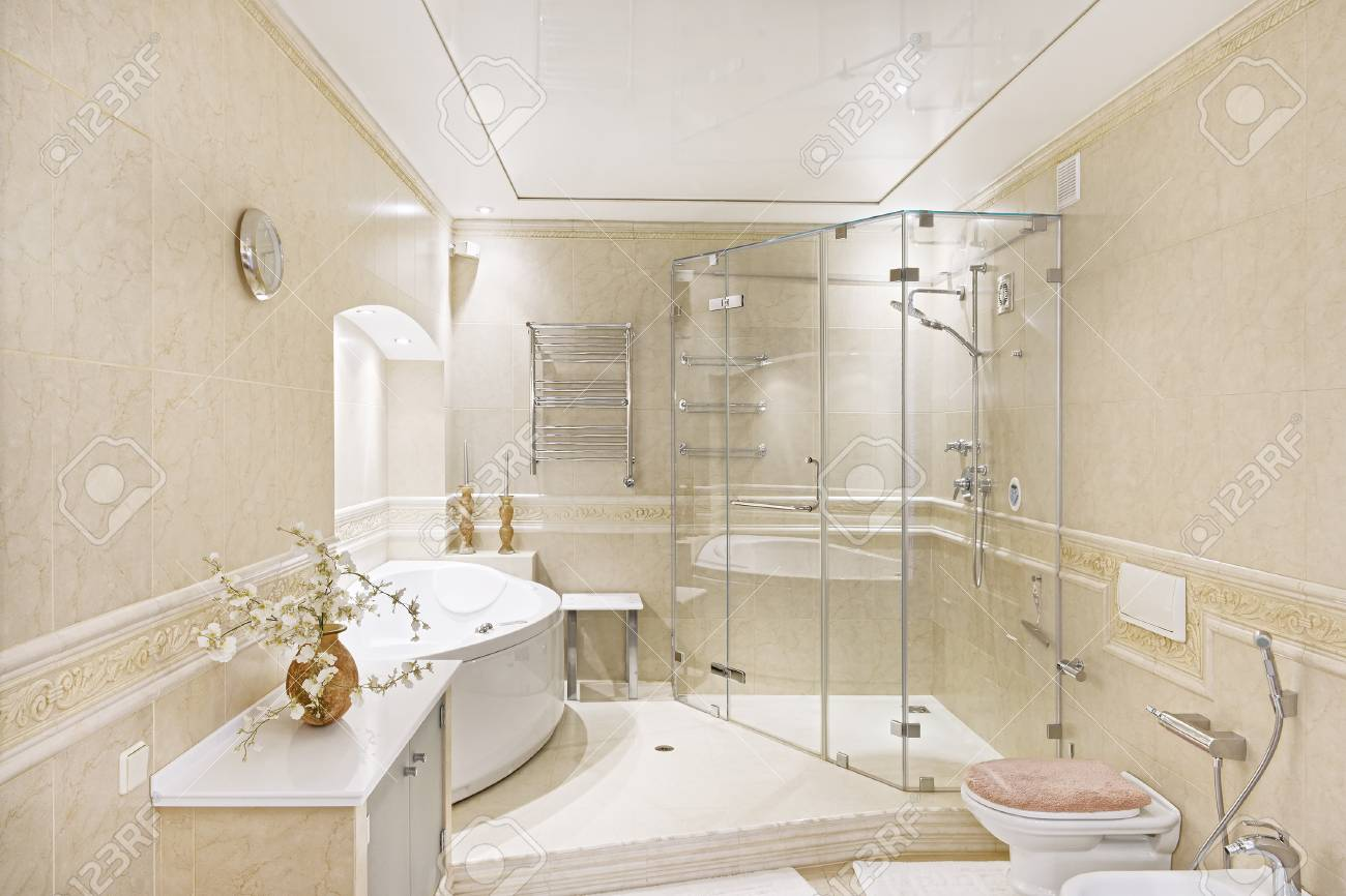 Interior Design Bathroom Luxury House Stock Photo Picture And Royalty Free Image Image 90328457