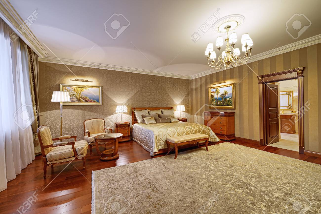Russia Moscow Region Luxury Bedroom Interior In The New Rich