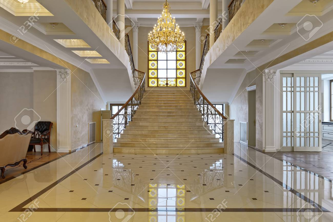 Design of stairs in a rich house. Russia Moscow region - interior design in & Design Of Stairs In A Rich House. Russia Moscow Region - Interior ...