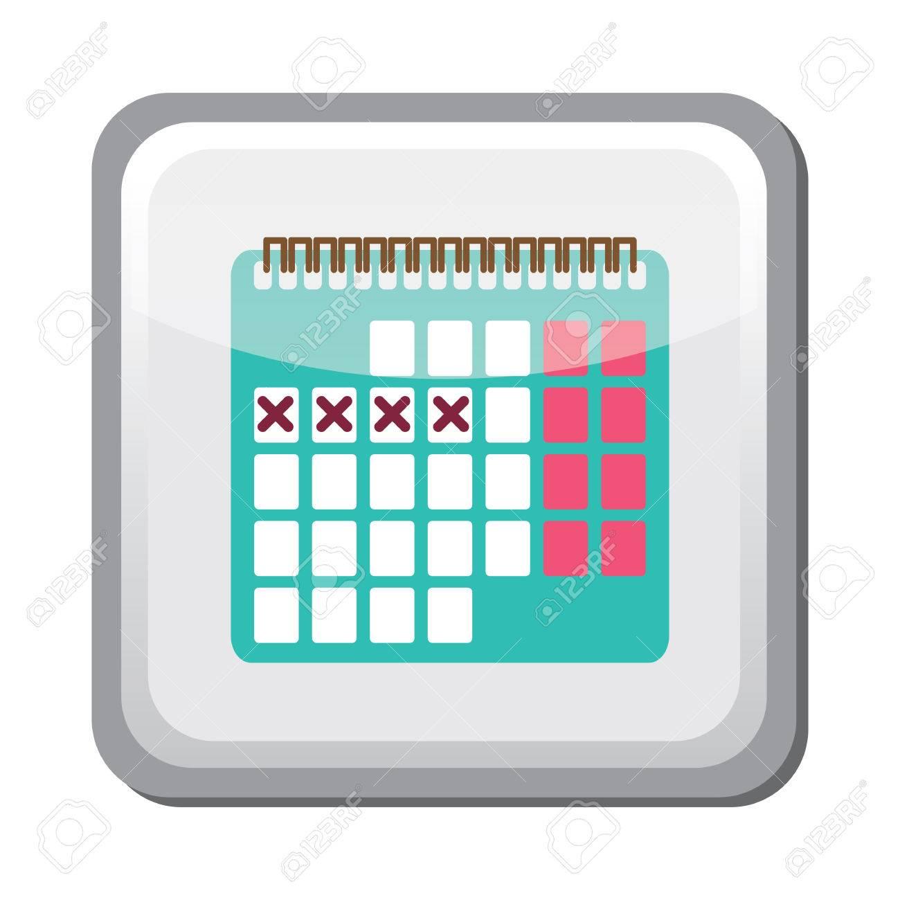 e09c29b5a Foto de archivo - Icono del calendario método anticoncepción