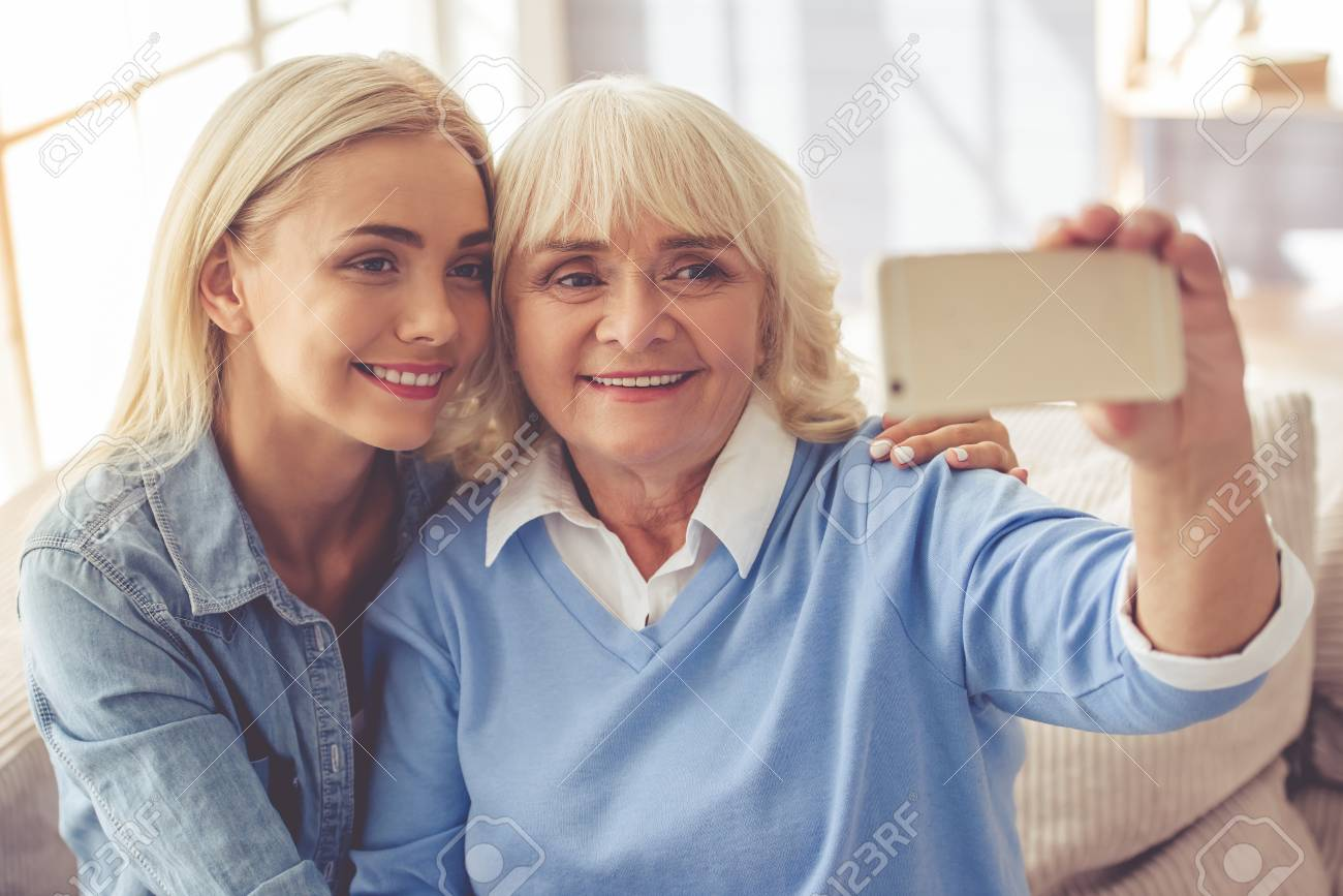 Old woman with young girl