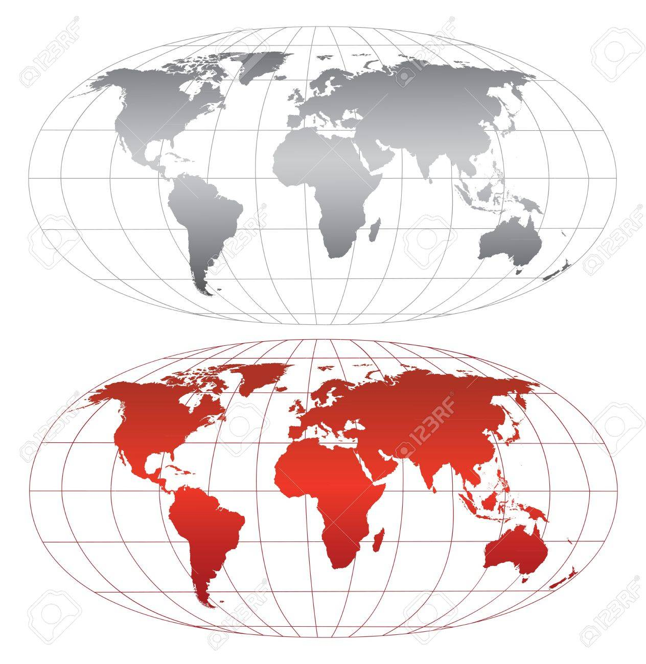 High detailed world map.Separate layers Stock Vector - 12307769