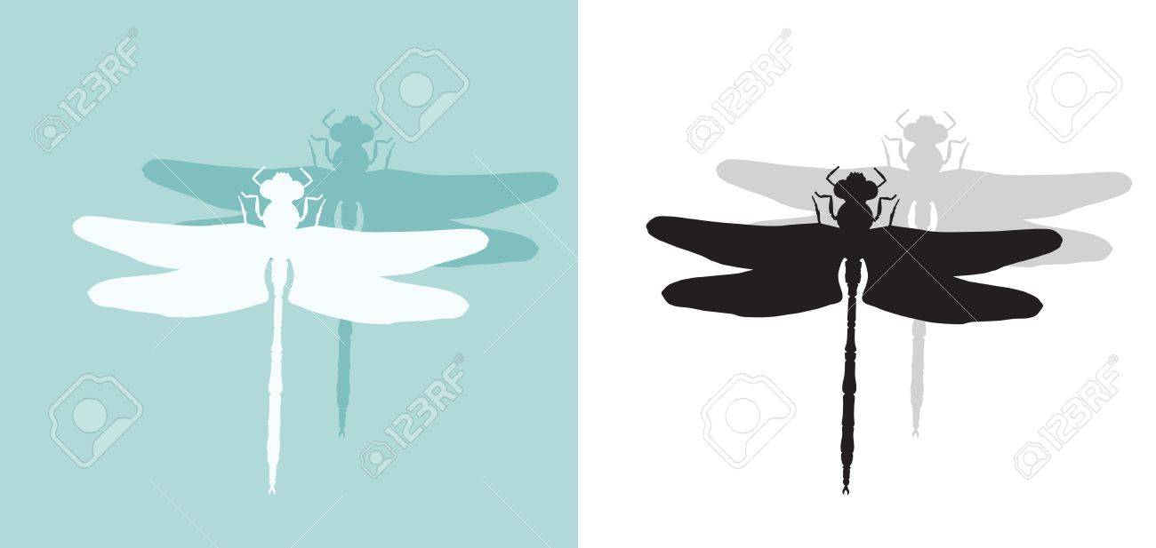 silhouette of dragonfly royalty free cliparts vectors and stock