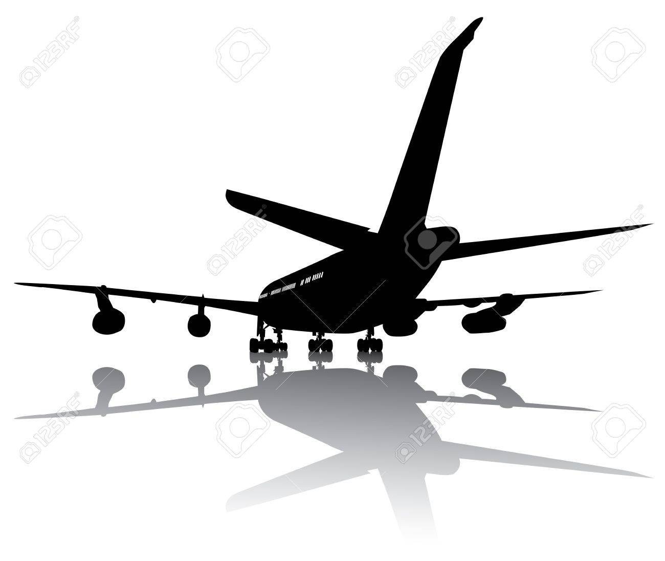 Airbus vector detailed silhouette  Separate layers  eps8 Stock Vector - 13816134