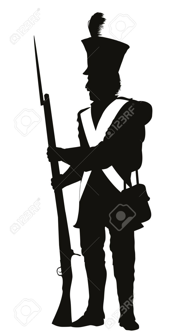 napoleonic war soldier detailed vector silhouette royalty free rh 123rf com soldiers victorville ca soldier vector free download