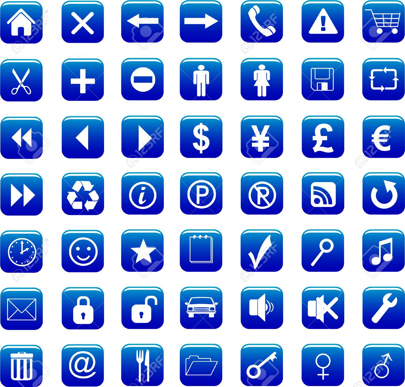 icons set vector Stock Vector - 4228253