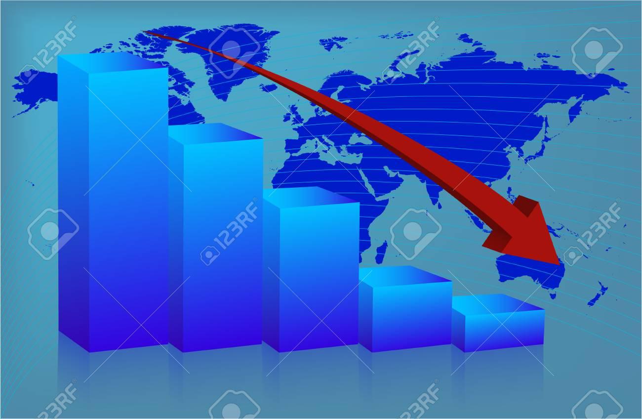 Chart World down Stock Vector - 4228258