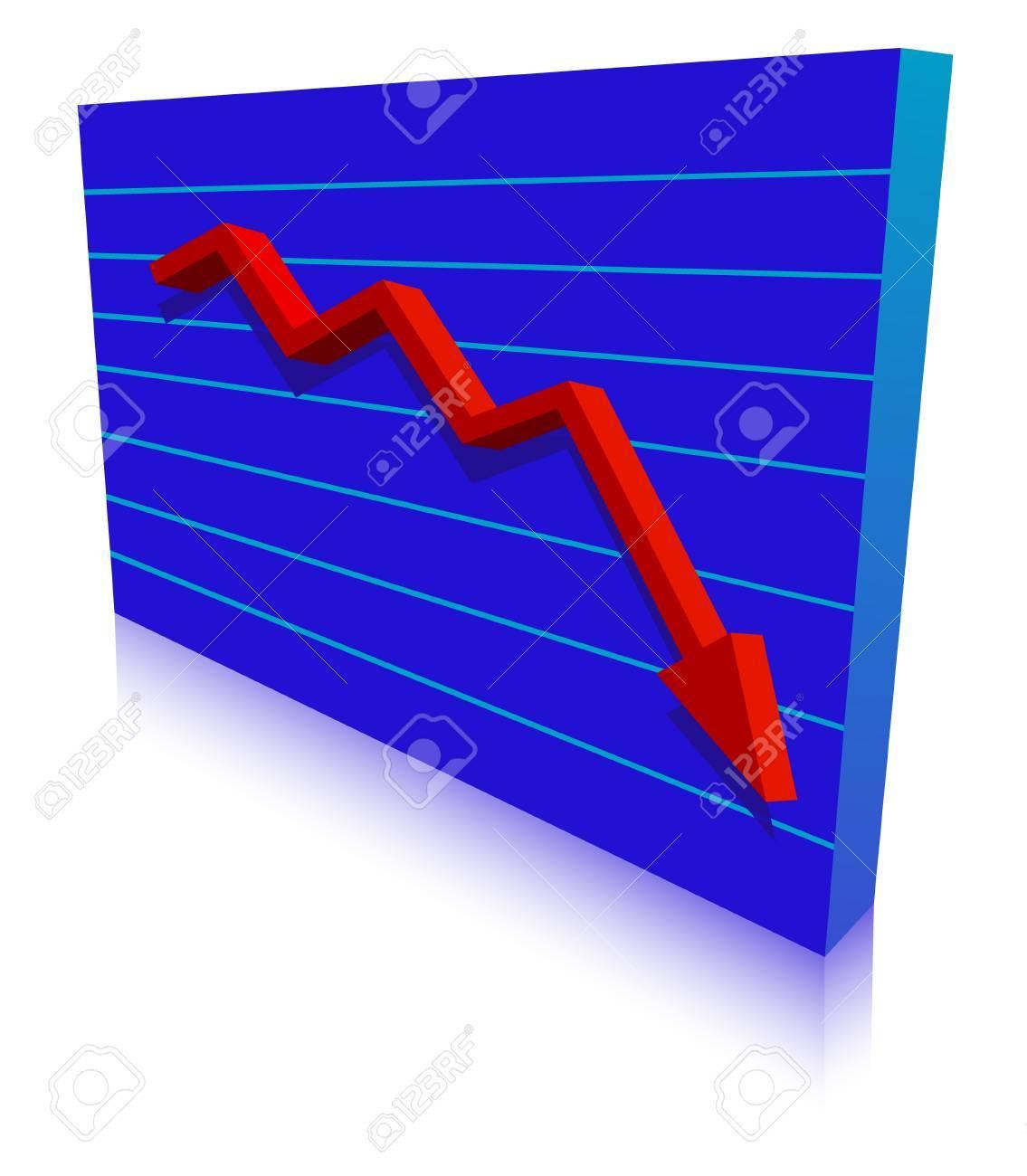 Business Failure graph down arrow Stock Vector - 4373654