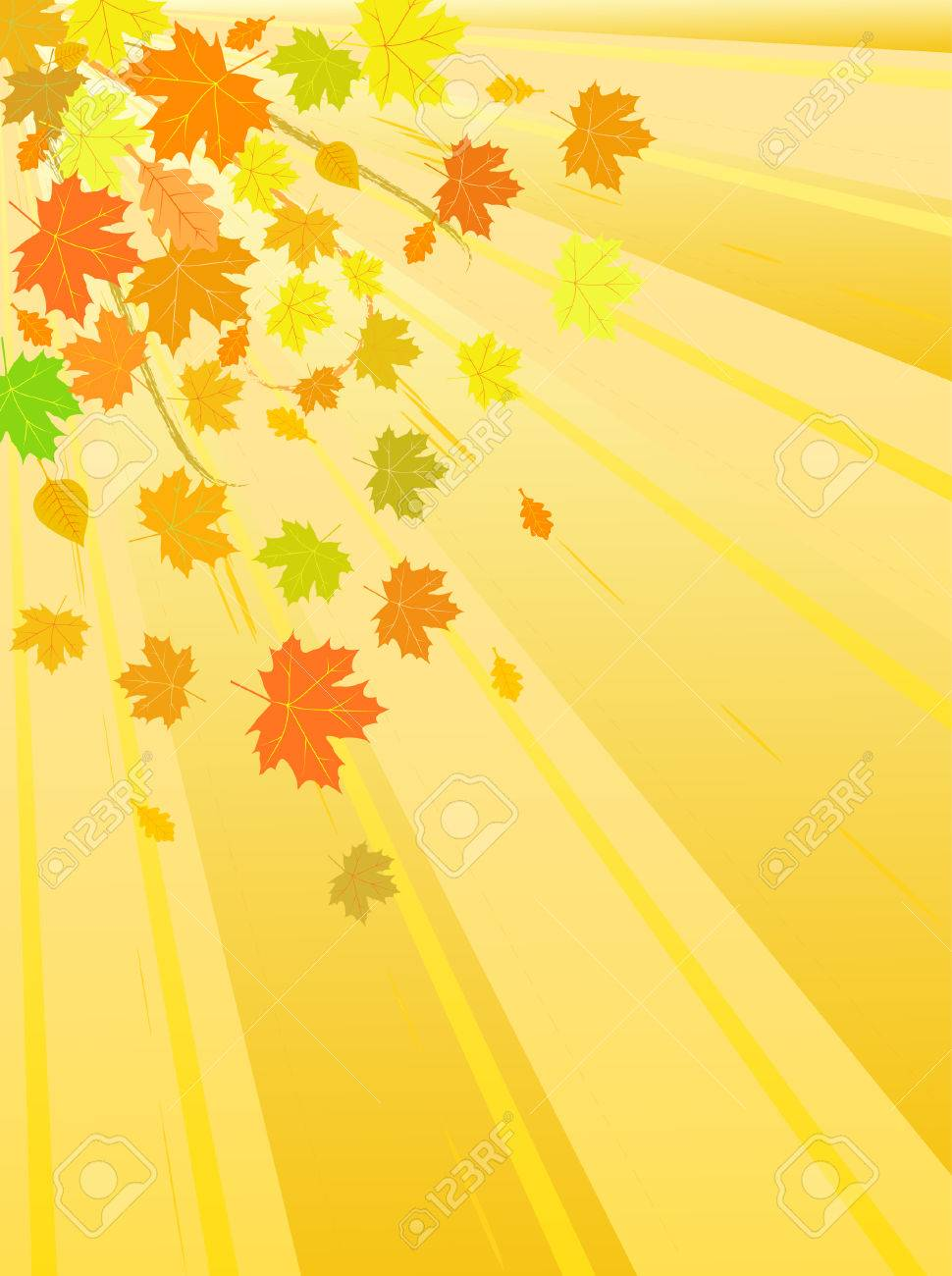 vector autumn leaves background Stock Vector - 5195700