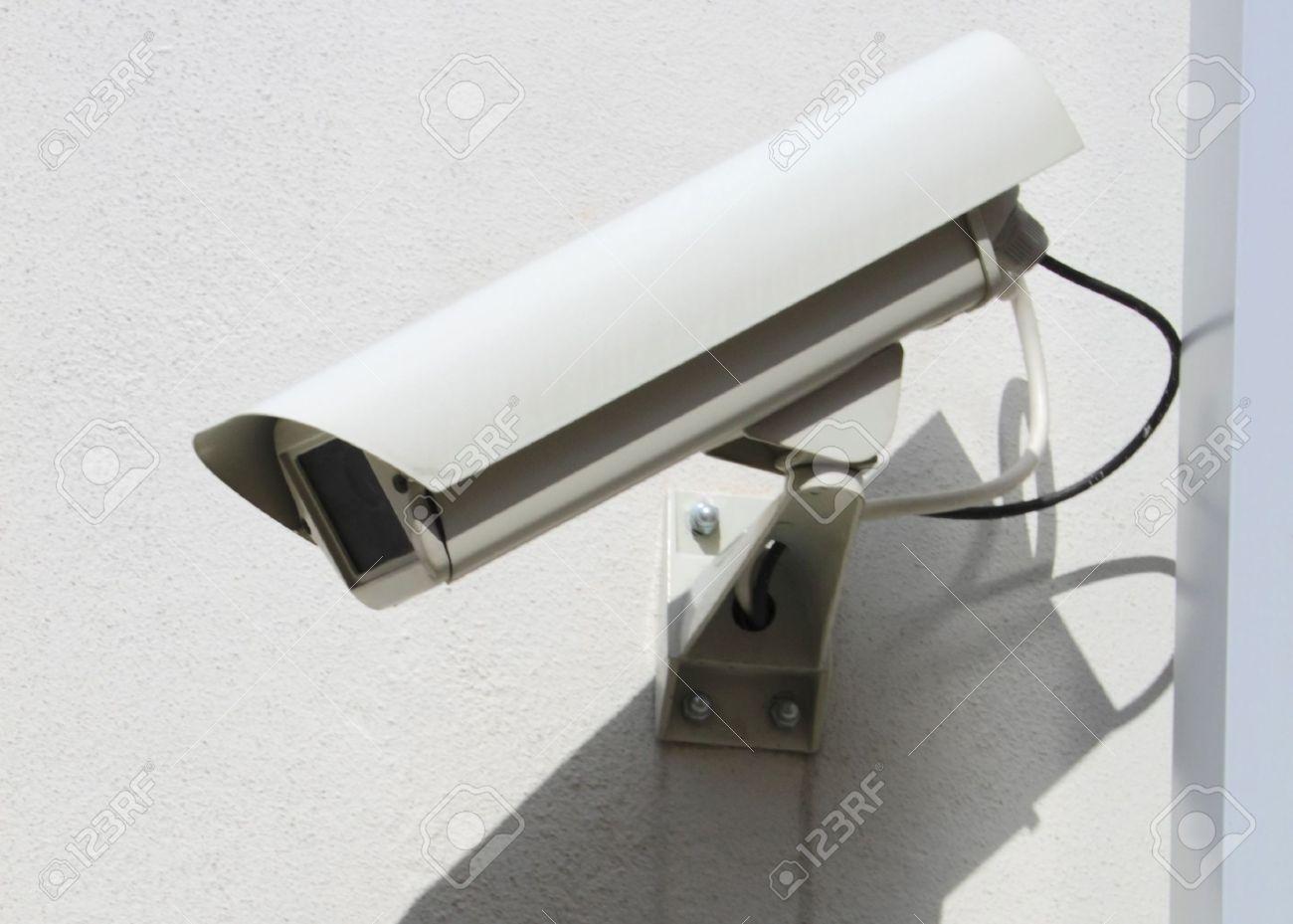 Videocamera di sicurezza  Archivio Fotografico - 7745440