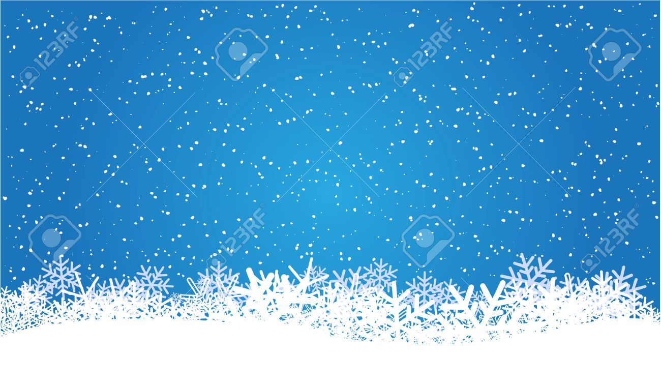 Blue Christmas Background With Snowflakes Royalty Free Cliparts ...