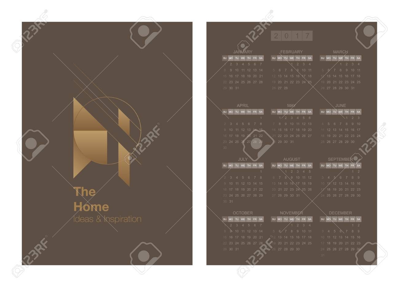 Calendar Ideas For Home : Calendar for year and vector logo template home ideas and