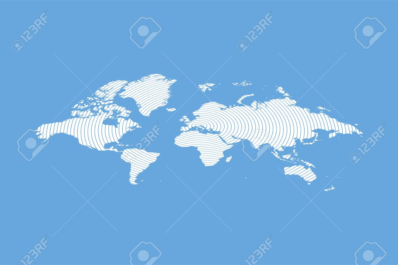 Abstract isometric World Map in motion. Flat vector illustration.. on map saigon, map in color, united states radar motion, map nonfiction, map stationary,