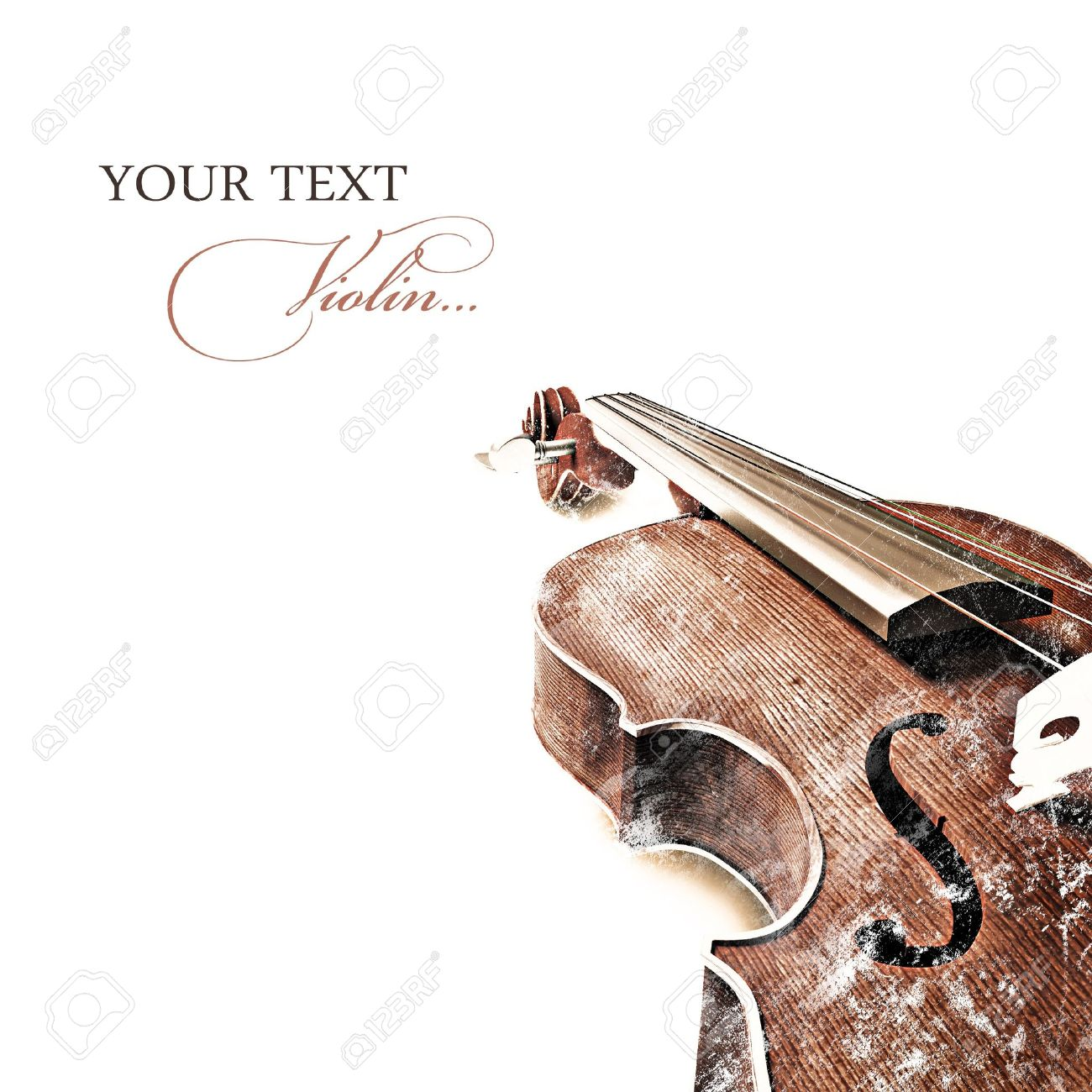 Vintage background with old violin Stock Photo - 14523995