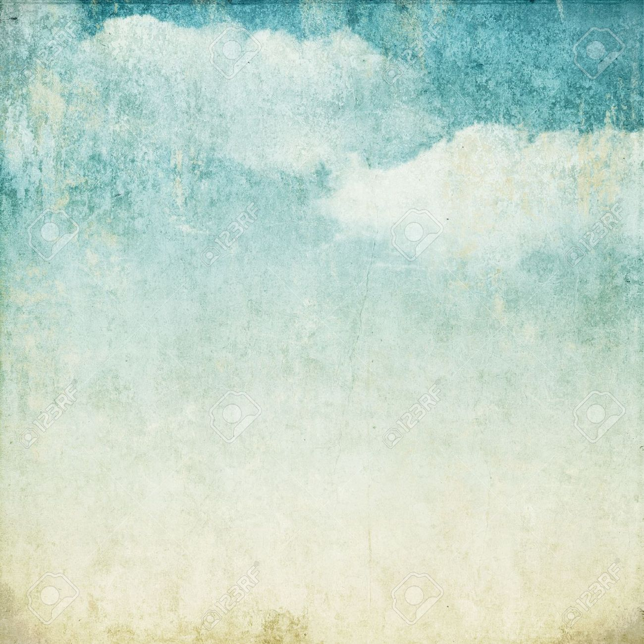Vintage background in the blue shade with clouds Stock Photo - 14524822