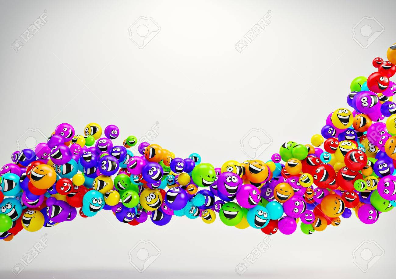 Funny colorful smiles. Positive emotions Stock Photo - 14958374
