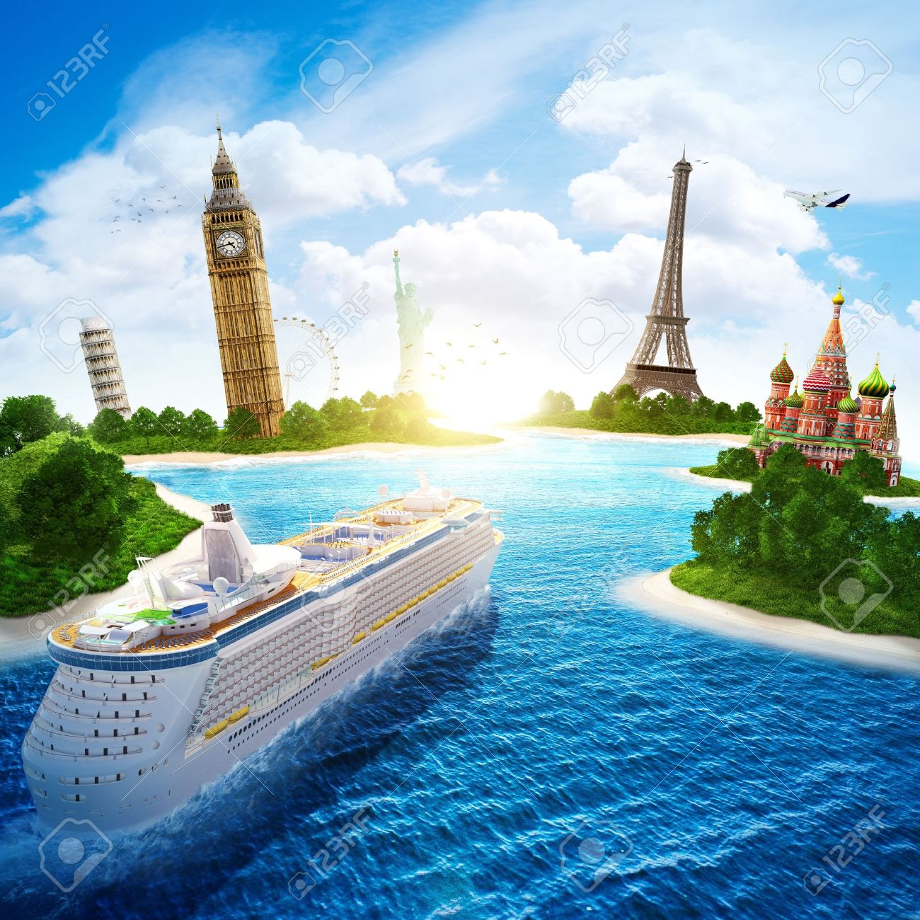 Sea cruise by Europe and countries of the world - 19622844