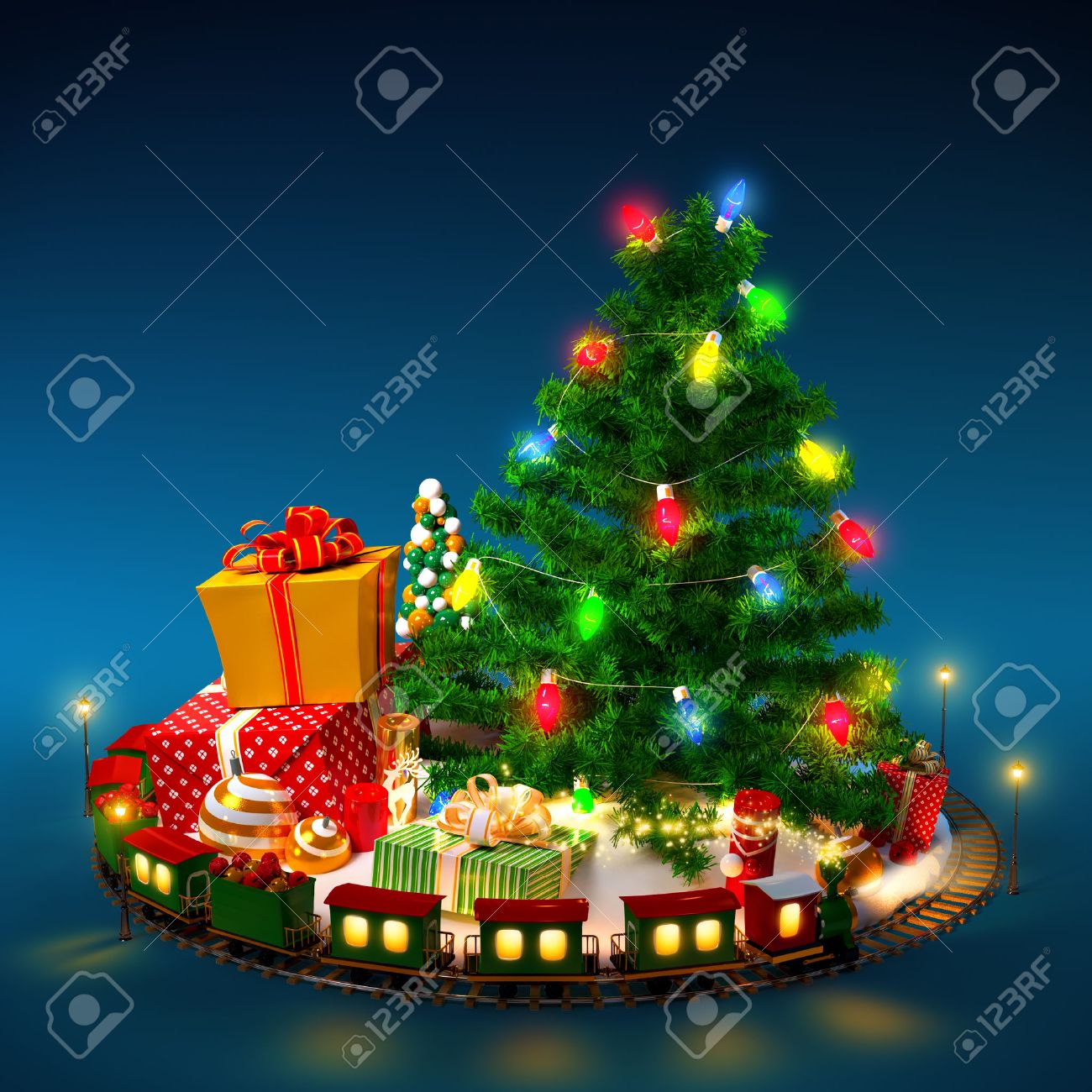 Fondos de escritorio, entra y llevate uno-http://previews.123rf.com/images/vadmary/vadmary1310/vadmary131000022/22646081-Christmas-background-Christmas-tree-gifts-and-railroad-on-blue-Stock-Photo.jpg