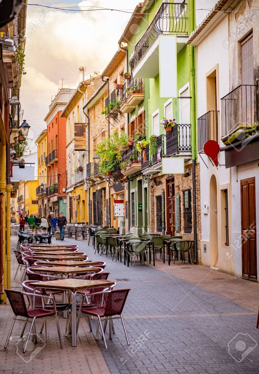 A street of old town in Europe. Stock Photo - 55257623