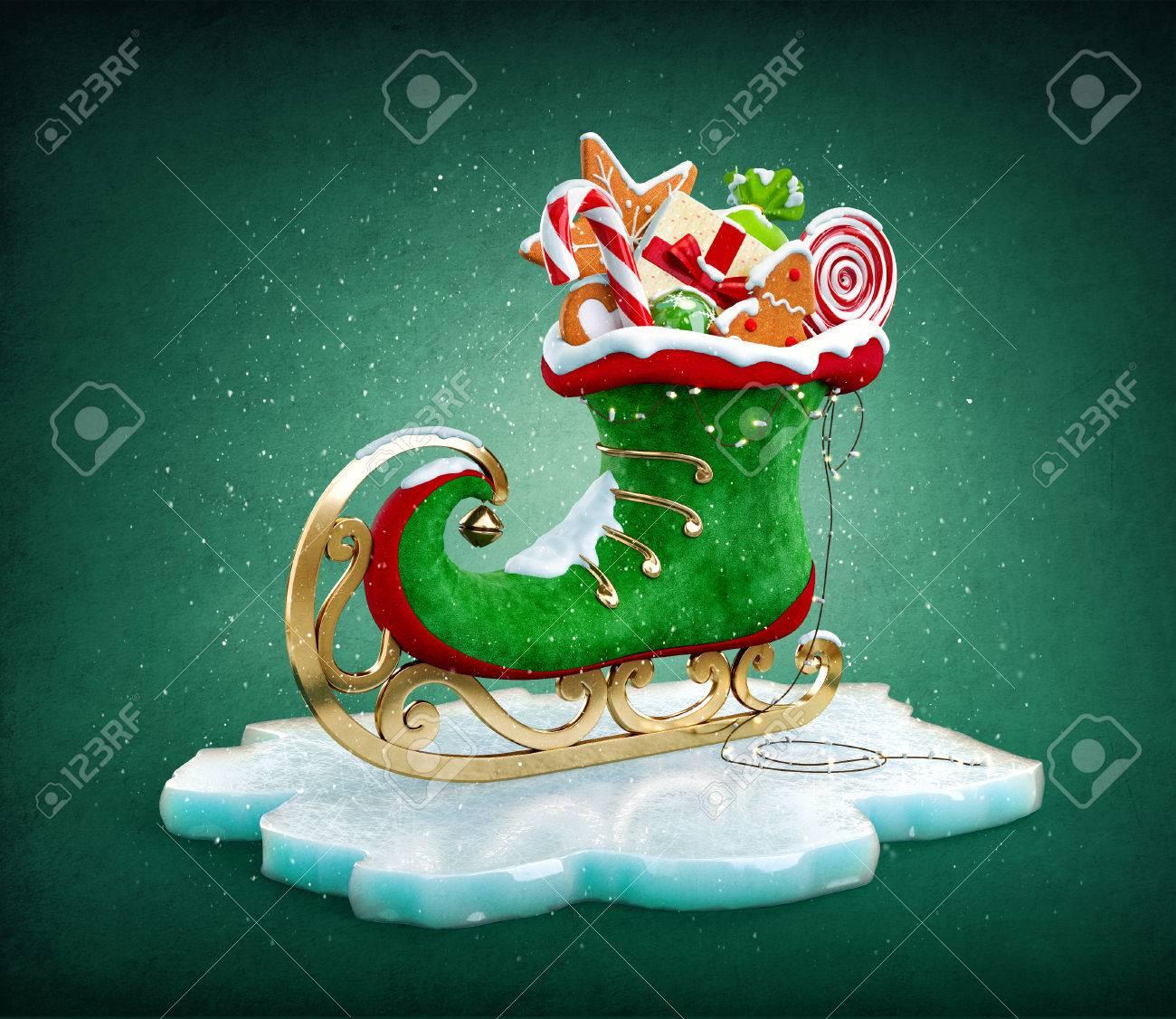 Magische Elf-Skate Voller Weihnachtsgeschenke Und Süßigkeiten ...