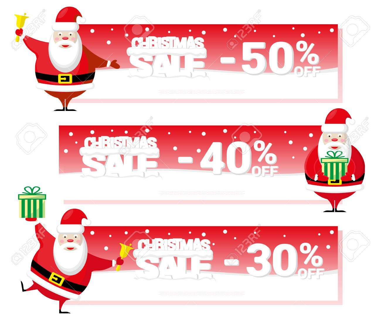 Weihnachtsverkauf Flyer Oder Einen Gutschein Mit Weihnachtsmann Und ...