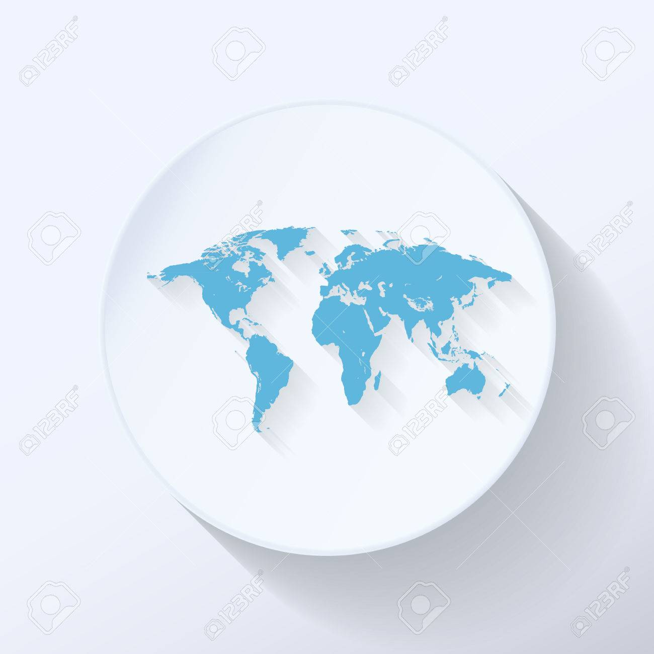 Illustration world map flat icon with light blue color royalty illustration world map flat icon with light blue color stock vector 23922502 gumiabroncs Gallery