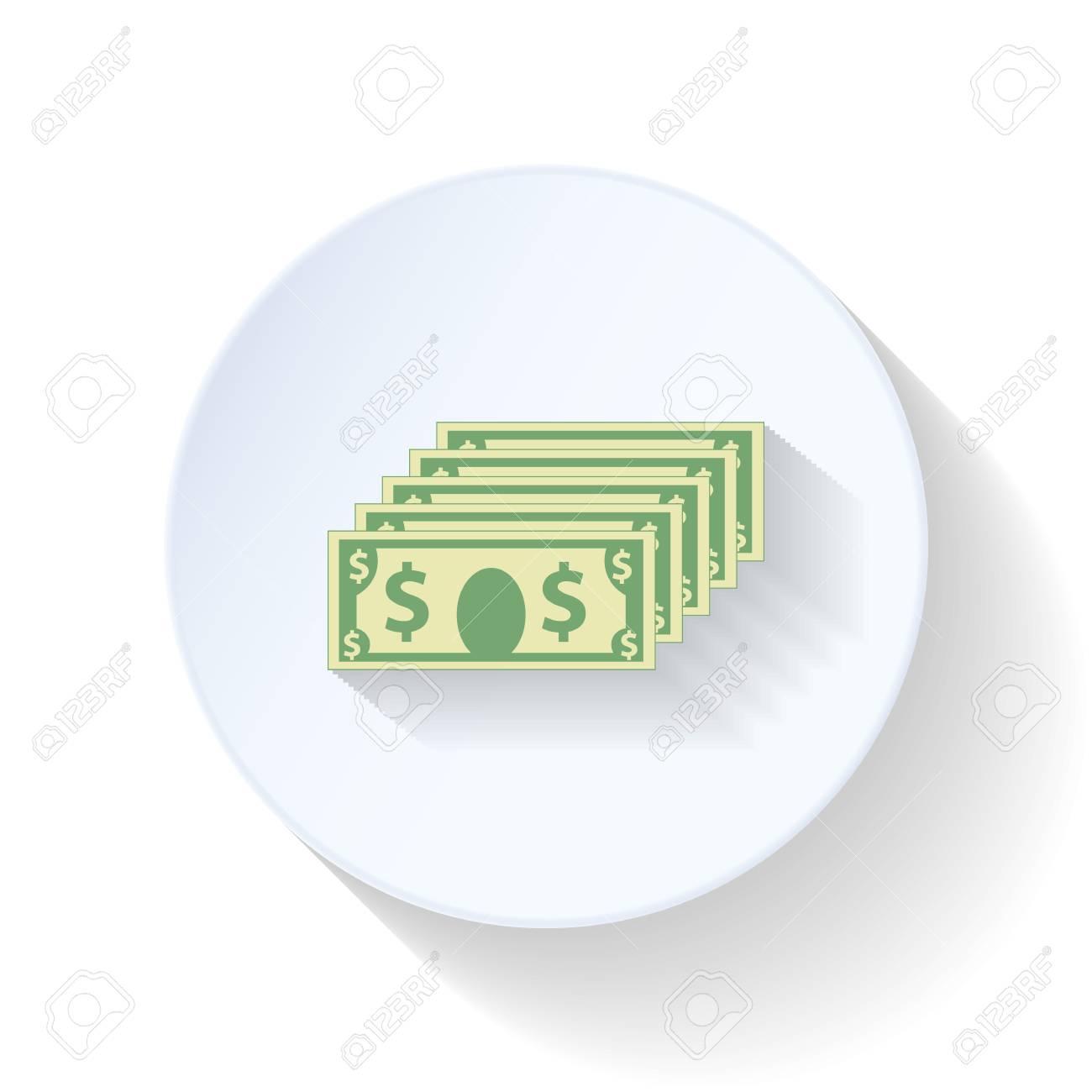 Dollars flat icons set graphic illustration Stock Vector - 26041512