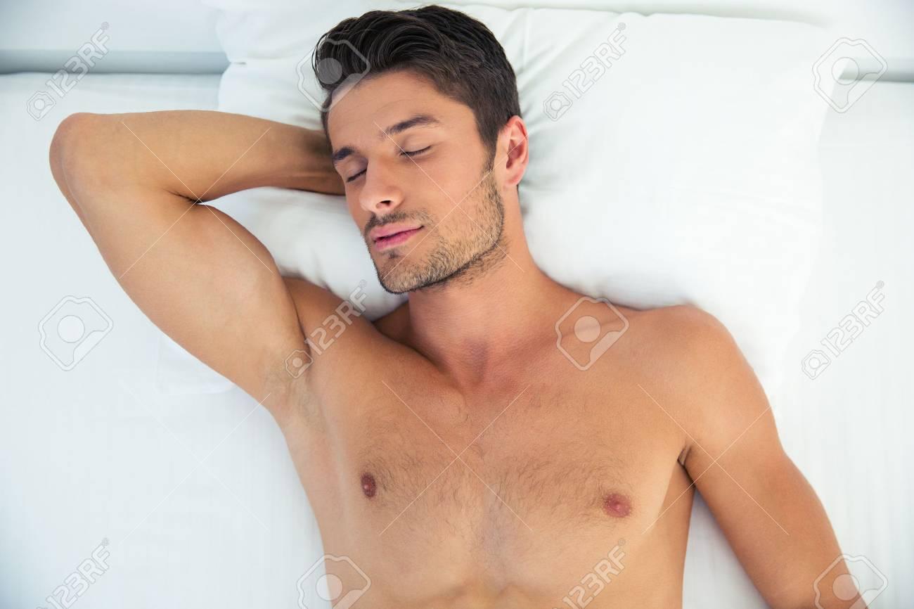 Men sleeping in the nude