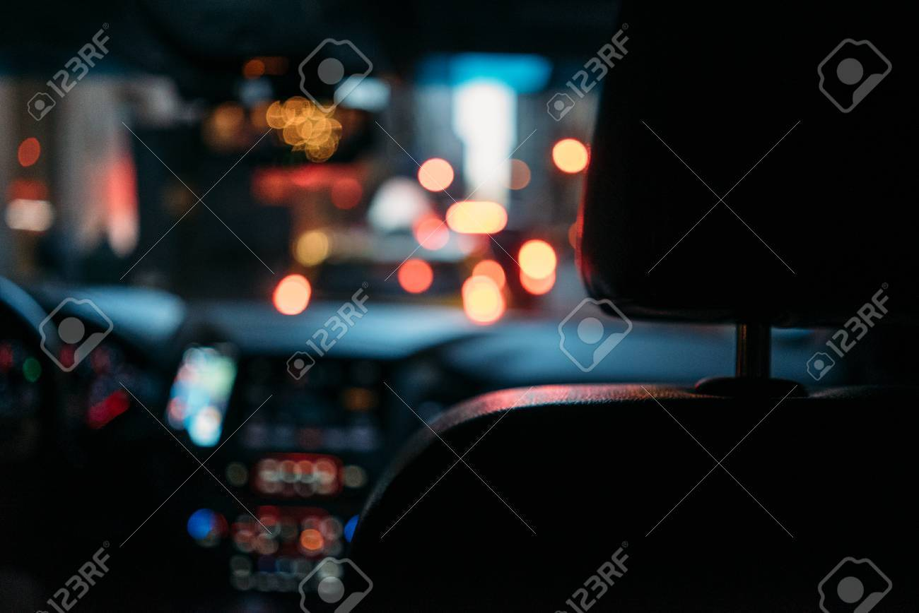 Night Road View From Inside Car With Natural Light Street And Stock Photo Picture And Royalty Free Image Image 71831488