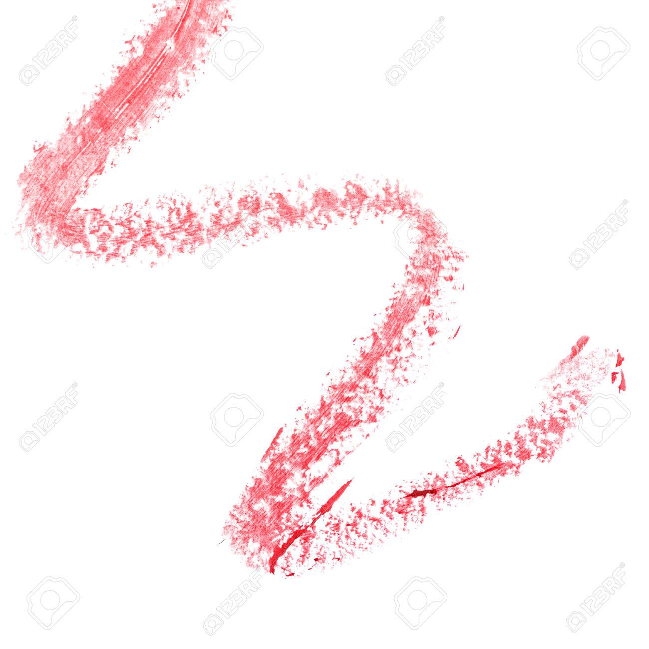 Abstract Art Is A Trace Of Red Lipstick On Paper Design Element
