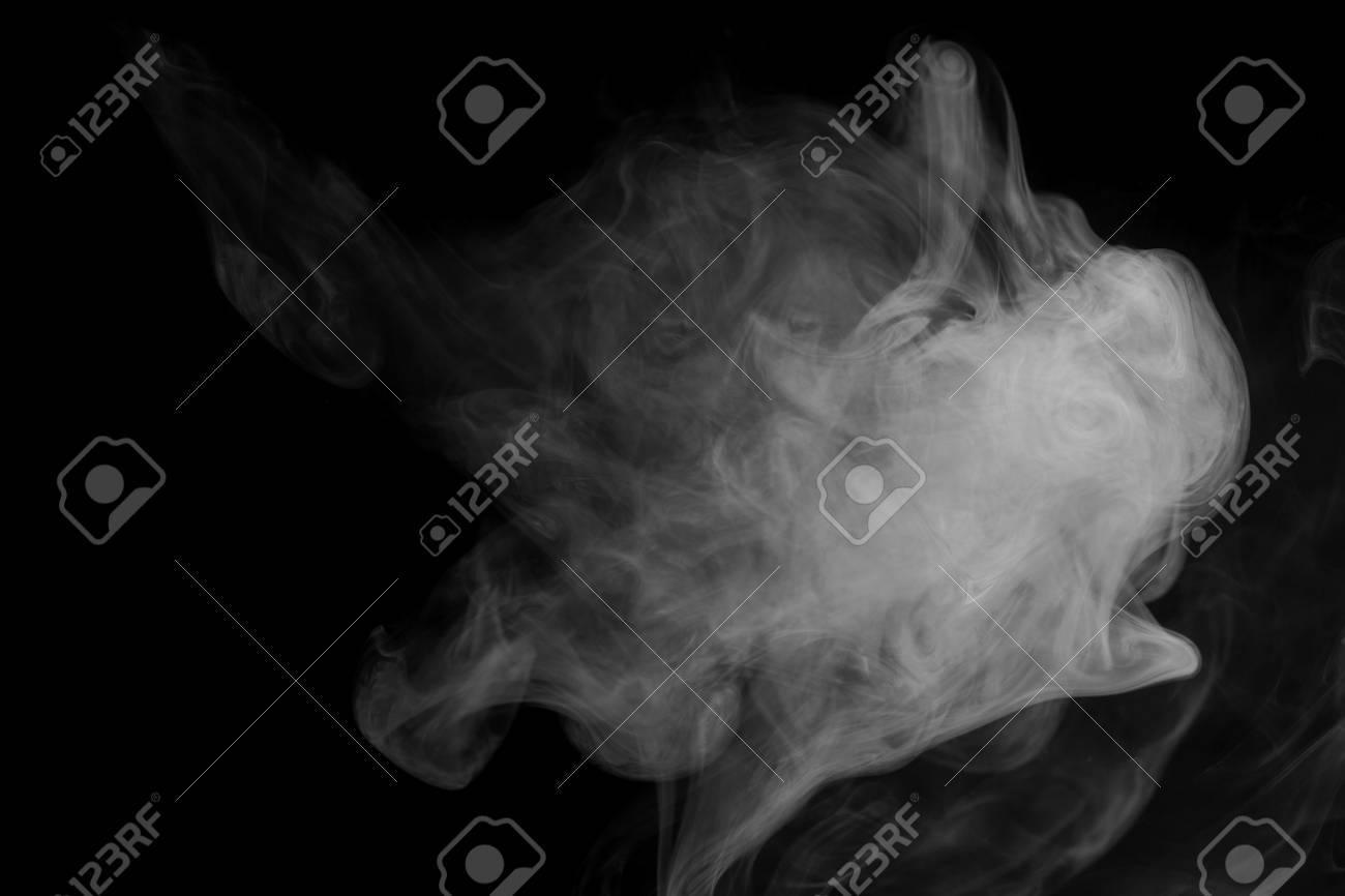Background image 7945 - Grey Smoke Hookah On A Black Background Inhalation Steam Generator