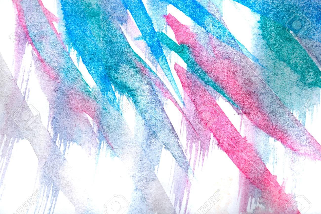Aquarell Abstrakte Kunst Zeichnung Im Stil Der Kinder Farben Blau Und Schwarz Die Spuren Der Burste Design Elemente Lizenzfreie Fotos Bilder Und Stock Fotografie Image 52664945
