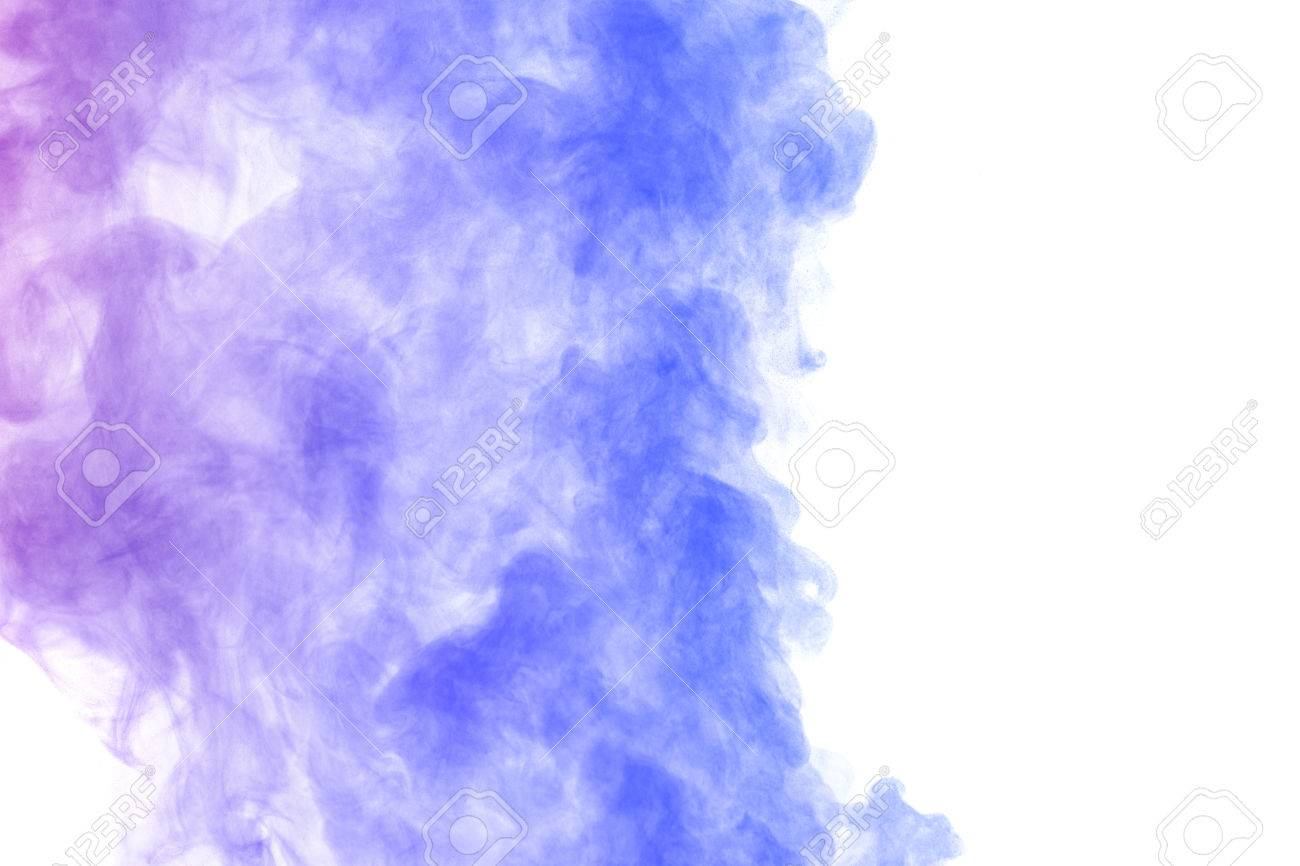 Abstract Blue Purple Water Vapor On A White Background Texture
