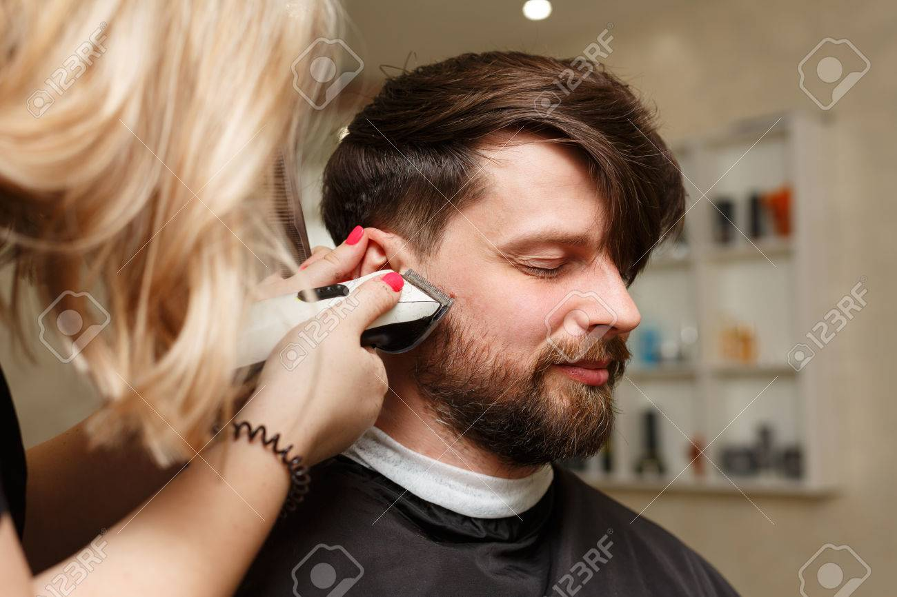 Astonishing Professional Hairdresser Doing Haircut Mens Hair Cutting Natural Hairstyles Runnerswayorg